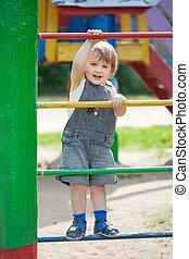 two-year child at playground - two-year child at playground...
