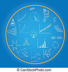 Drawing business plan concept idea