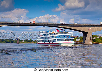 October bridge in Yaroslavl - October bridge -...