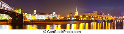 Panoramic view of Moscow  in summer  night