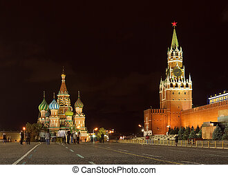 Red Square in night Moscow, Russia - Kind to the Red Square...