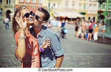 Couple enjoying their spare time