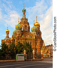 Church of the Savior on Blood in summer