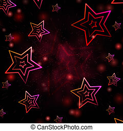 abstract red background with white stars