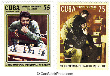 cuba stamp with Ernesto Che Guevara
