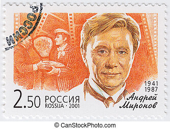 RUSSIA - CIRCA 2001 : stamp printed in Russia shows russian...