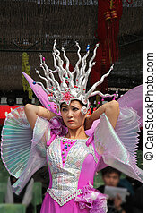 The Beauty-dancer in a freakish ornament - The Chinese new...