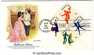 USA - CIRCA 1978: Stamp printed in USA shows dancer...