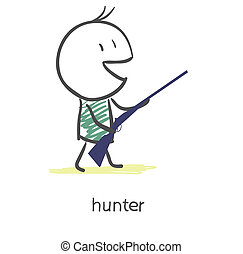 Cartoon hunter