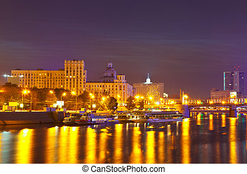 View of Moscow in summer night - View of Moscow....