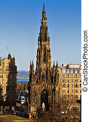 The Scott Monument, Edinburgh, Scotland. - The Scott...