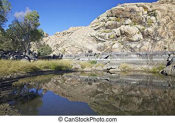 Granite Dells and Willow Lake - the granite dells along the...
