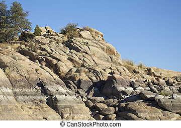Granite Rock Formations - rugged granite rock formations...
