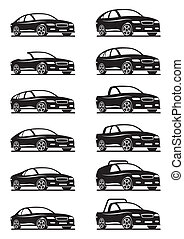 Cars and off road vehicles - vector illustration