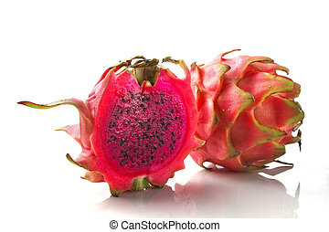 red dragon fruit pitaya - vivid and vibrant red dragon fruit...