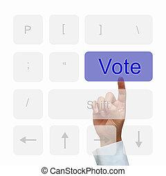 Vote button on keyboard