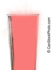 Open Door With Red Light