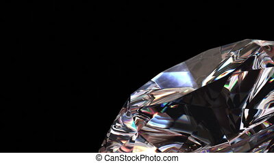 Diamond background, seamless looping 3d animation with alpha...