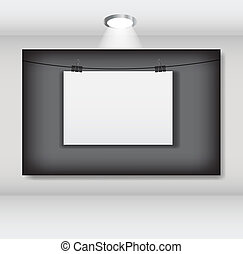 White blank page with clip vector illustration.