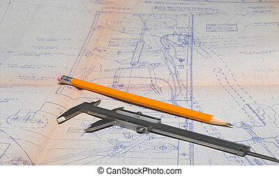 Calipers and Blueprint