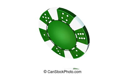 Casino chip - Animation isolate on white