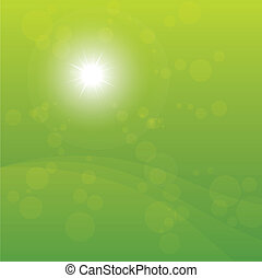 Bright Sun Burst Green Background