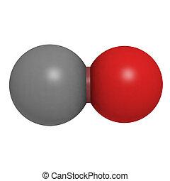 Carbon monoxide (CO) molecule, chemical structure - Chemical...