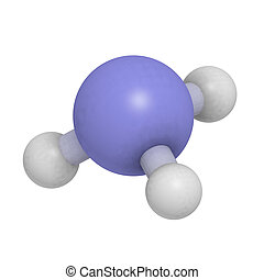 Ammonia (NH3) molecule, chemical structure - Chemical...