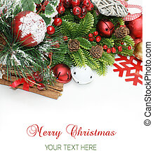 Merry Christmas background with space for text