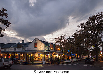 Paarl, Franschhoek, South Africa - Downtown Paarl shops at...