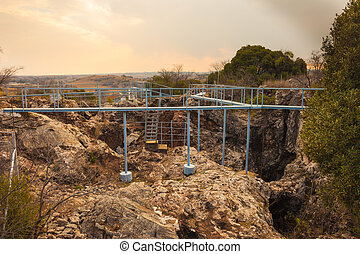 Entrance to the Cradle of Humankind archaelogical cave