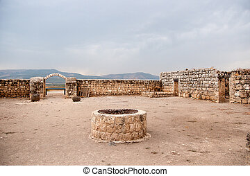 Ancient ruins in galilee - North Israel national park...