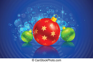 Christmas Bauble - illustration of colorful Christmas bauble...