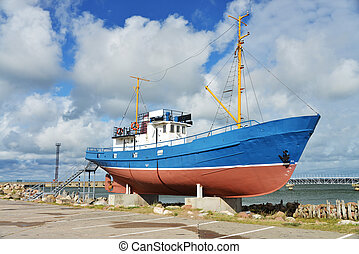 fishermans boat - fishermans ship for museum