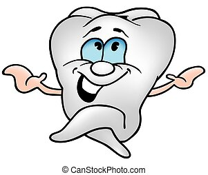 Little Tooth 1 - colored cartoon illustration