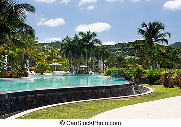 Glorious pool at Anse Marcel on St Martin - Swimming pool...