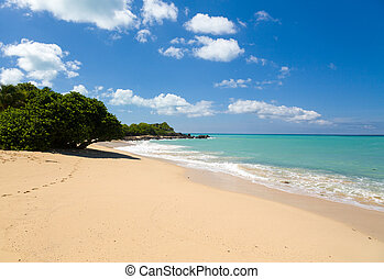 Happy Bay off coast of St Martin Caribbean - Happy Bay beach...