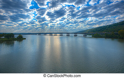 Twin Rivers Bridge - East - Early Morning Twin Rivers Bridge...