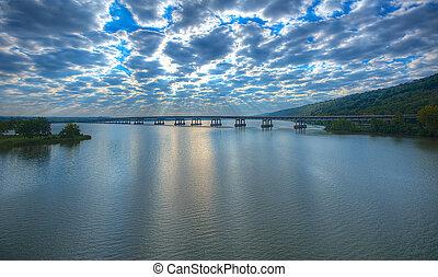 Twin Rivers Bridge - East - Early Morning Twin Rivers Bridge...