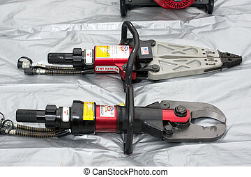 Rescue Tools - Rescue Equipment Used By Fire Department on...