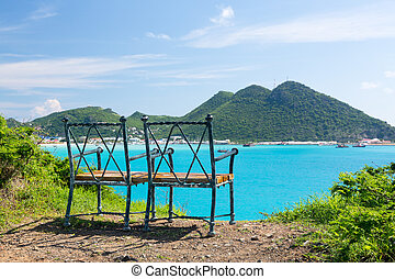 Overview of Philipsburg Sint Maarten - Seat at overlook...