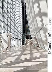 interior, edificio, moderno