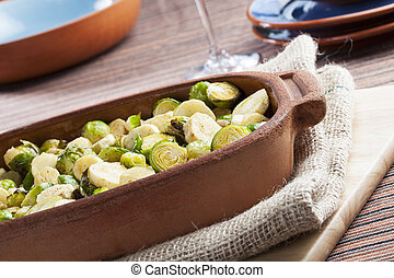Roasted Parsnip and Brussel Sprouts - Roasted parsnips and...
