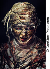 portrait of scary mummy - portrait of scary bad mummy at...