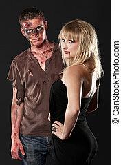 zombie and vampire in the studio