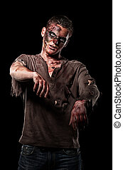 The roar zombie is monster in brown shirt - The zombie is...