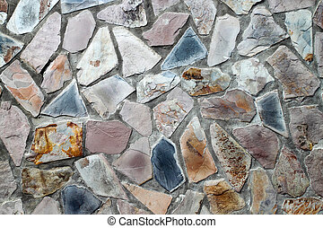 masonry wall with irregular shaped stones