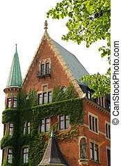 Historic building in the Speicherstadt in Hamburg - Historic...