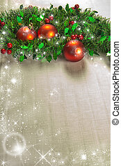 Christmas decorations - Christmas decoration with holly