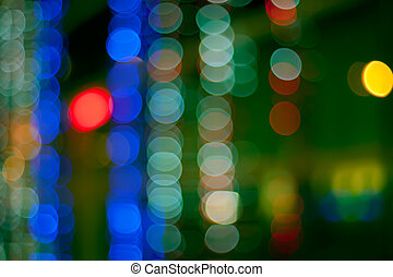 Christmas defocused lights